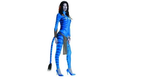 Blaue Avatar Ganzkörperverkleidung