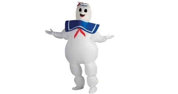 Weisses Marsmallow Mann Kostüm