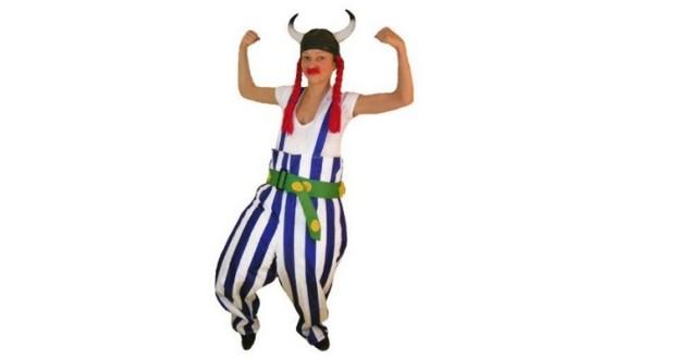 Obelix Verkleidung mit Hinkelstein
