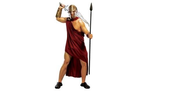 Spartaner mit Umhang